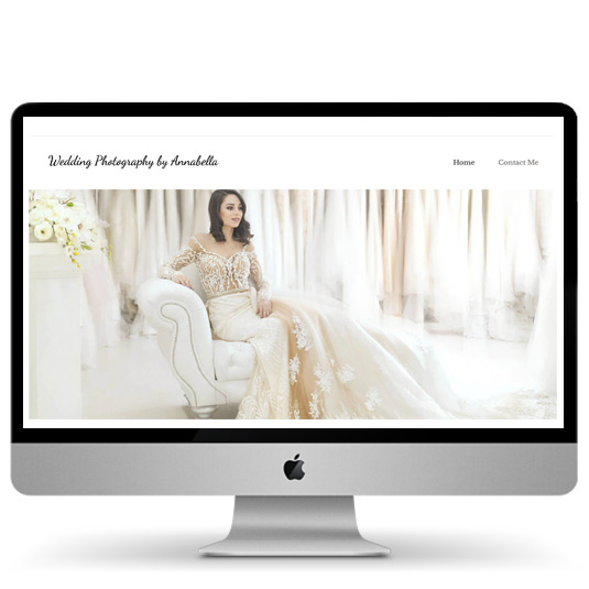 Wedding photography website design and creation